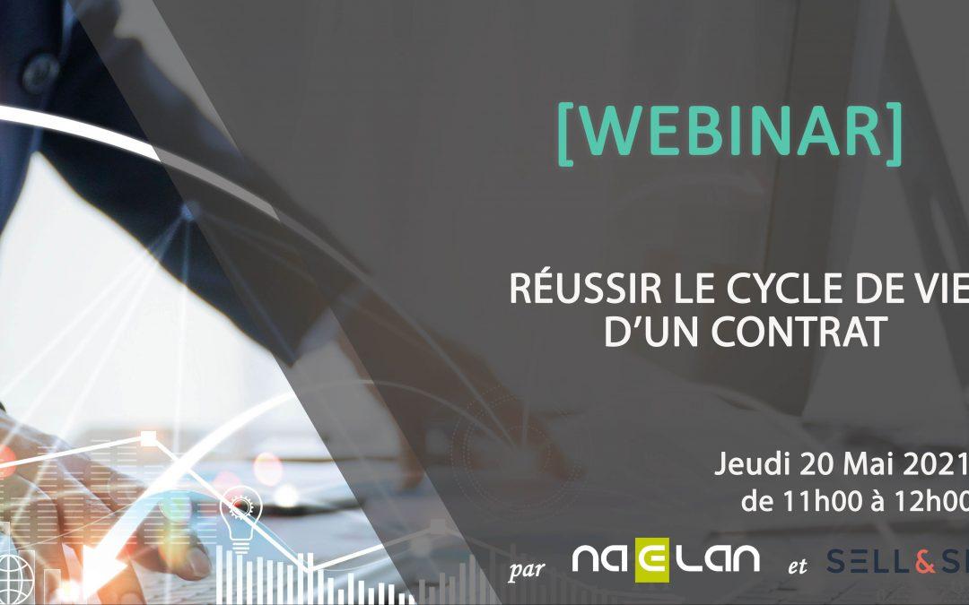 Participez à notre prochain webinar en partenariat avec SELL&SIGN : «Réussir le cycle de vie d'un contrat»